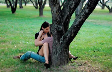 фото секс в парке